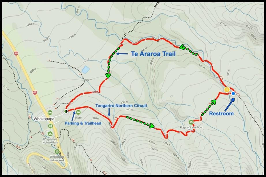 Taranaki Falls Hiking Map