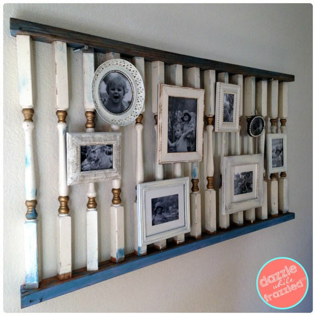 Display kid photos on DIY gallery wall | DazzleWhileFrazzled.com