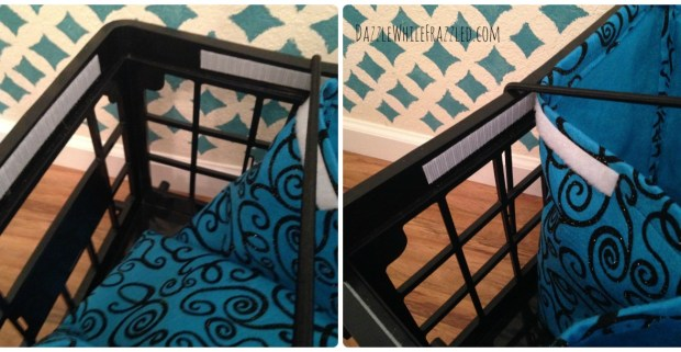 Milk Crate Fabric Liner DIY