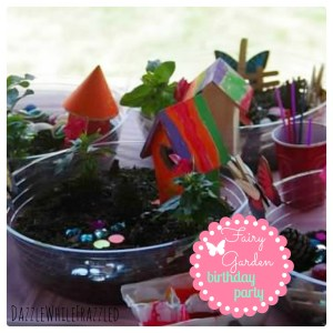 Create a fairy garden themed birthday party