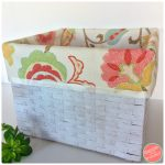 DIY No Sew Cloth Basket Liners