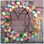 Make a miniature terra cotta flower pot wreath