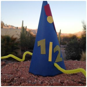 How to make half birthday party hats for a half birthday party