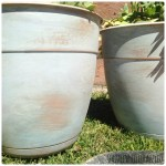 How to age plastic flower pots | DazzleWhileFrazzled.com