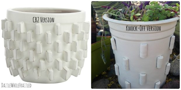 Make a CB2 Inspired Knock-Off Modern Flower Pot