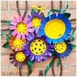 How To Make Flowery Front Door Decor Using Plastic Nursery Pots