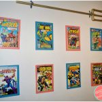 How to Make Superhero Wall Art from Old Comic Books