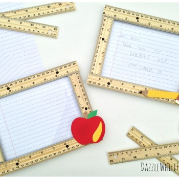 Easy DIY teacher appreciation thank you frame from student to teacher. End of school teacher gift.