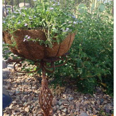 How to make a freestanding garden planter from old, vintage large candelabra.