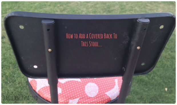 How to recover barstools and add a padded back