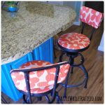 How To Easily Recover Bar Stools with Laminated Fabrics
