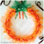 How To Make Fun Mesh Pumpkin Wreath