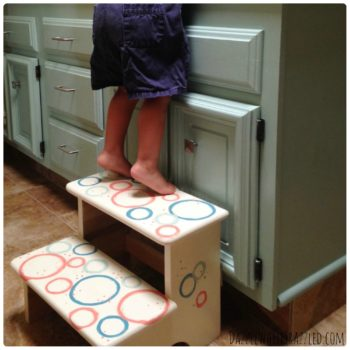 Update a kid step stool with paint | DazzleWhileFrazzled.com