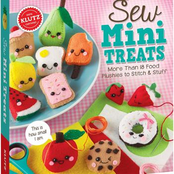 Cute mini emoji plushies sewing kits for kids play dates, birthday parties and sleepovers.