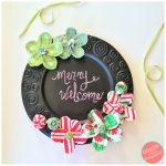 How to Make Easy Plate Charger Chalkboard Christmas Sign