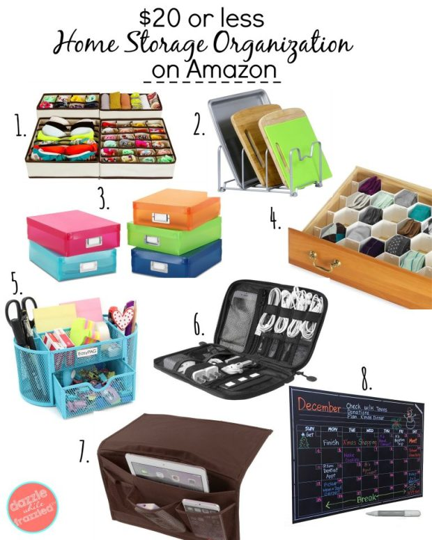 Get organized with home storage organizers for under $20 | DazzleWhileFrazzled.com