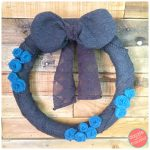 DIY Sweater Winter Wreath with Upcycled Scarf Rosettes