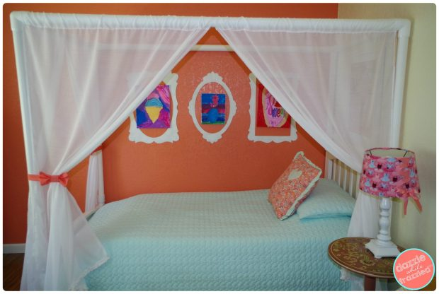 DIY Girls Bedroom Decor on a Thrifty Budget | DazzleWhileFrazzled.com