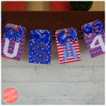 How to Make Fun USA Garland with Paper Goodie Bag