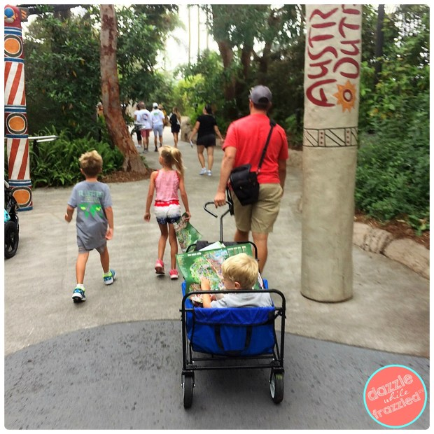Bring stroller or wagon when visiting San Diego Zoo with kids | DazzleWhileFrazzled.com