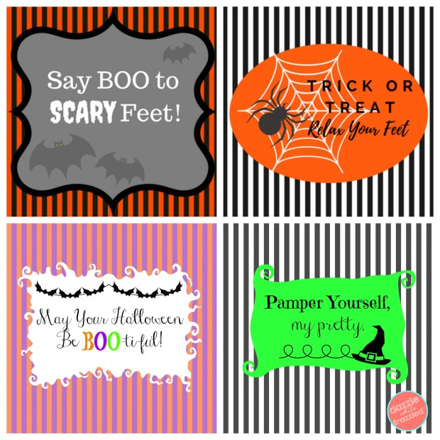 DIY Halloween Beauty Mason Jar Gift Ideas and Printable Gift Tags | DazzleWhileFrazzled.com