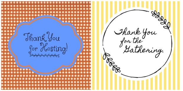 DIY hostess cleaning gift basket printable thank you gift tags | DazzleWhileFrazzled.com