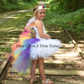 Unicorn Rainbow Bright Kids Halloween Costume on Amazon and Etsy.