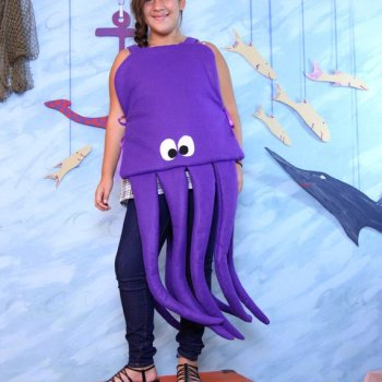 Kids unisex octopus-jellyfish Halloween costume on Etsy and Amazon.