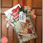 How to Make a Christmas Door Hanger from a Gift Bag