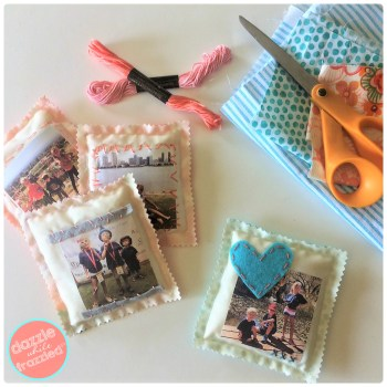 DIY easy sew drawer and closet photo sachets | DazzleWhileFrazzled.com