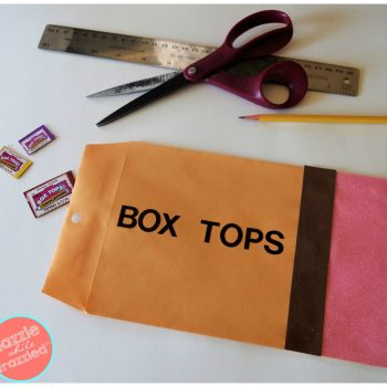 10-minute DIY easy Box Tops collection envelope