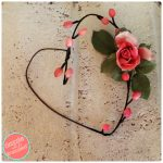 DIY Faux Flower Stem Heart Wreath Tutorial