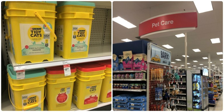 Purina Tidy Cats Free and Clean Unscented 35lb cat litter at Target.