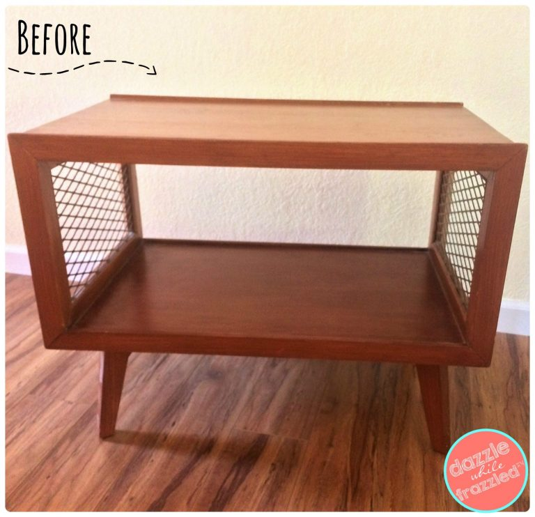 Transform old nightstands into a stylish storage bench for baskets and wine rack using spray paints and pre-pasted wallpaper.