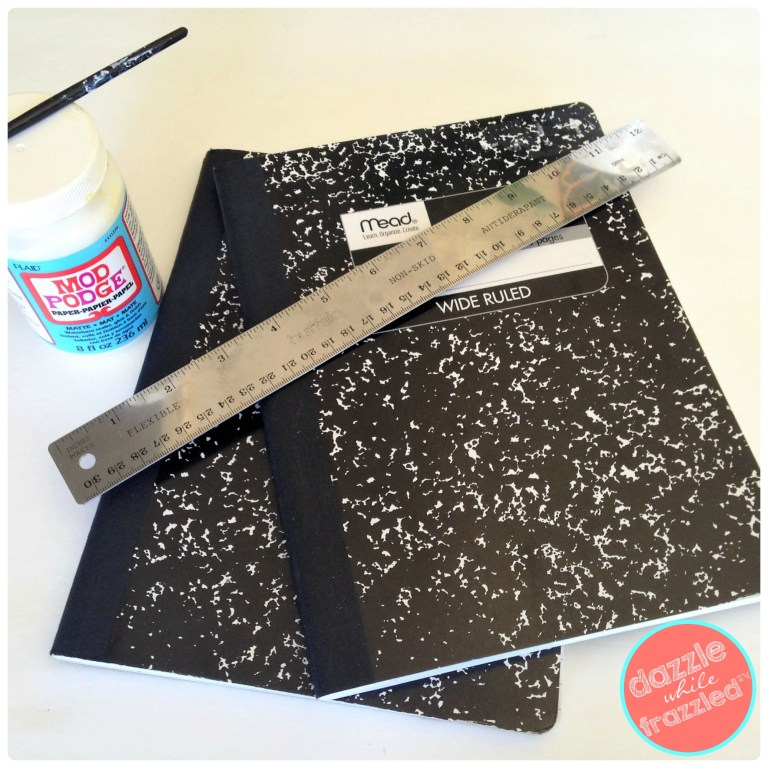 Update a composition notebook with free printable notebook cover for school