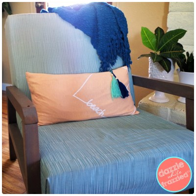 Turn an old t-shirt into an easy to sew envelope pillow cover for DIY home decor.