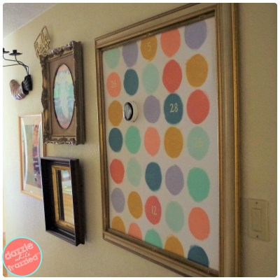 How to hide ugly wall thermostat like Nest with DIY large scale easy fast wall art.