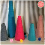 How to Make Colorful Felt Table Top Christmas Trees