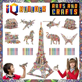 3D art coloring puzzle and building kit.