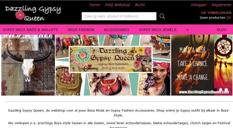 Nieuwe webshop van Dazzling Gypsy Queen is online!