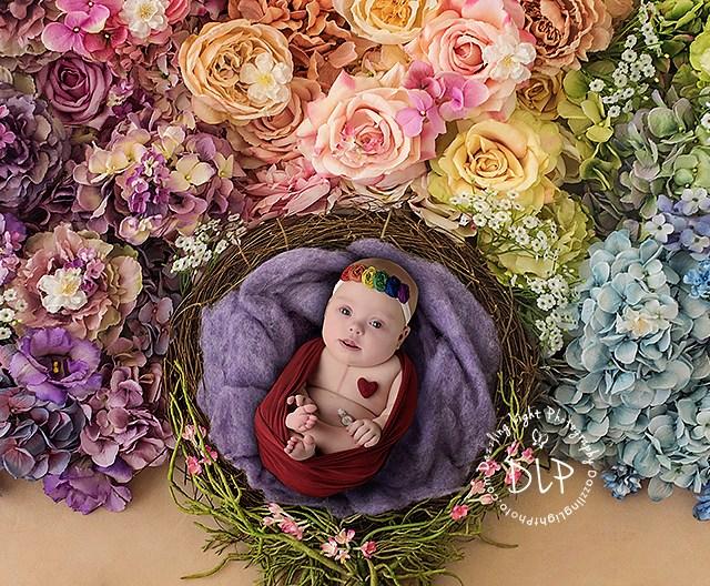 Rainbow Baby Session | Children's Photographer | Dazzling Light Photography
