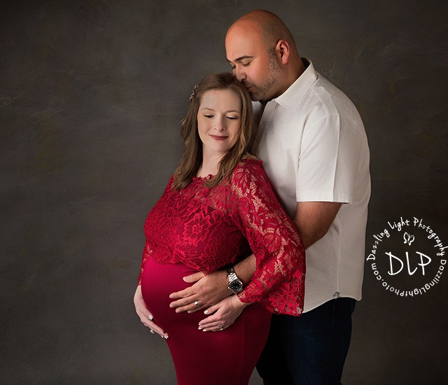 Studio Maternity Session | Castillo Family | Dazzling Light Photography