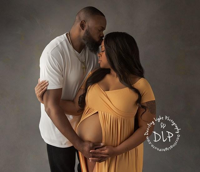 Studio Maternity Session | Arrington-Miller Family | Dazzling Light Photography