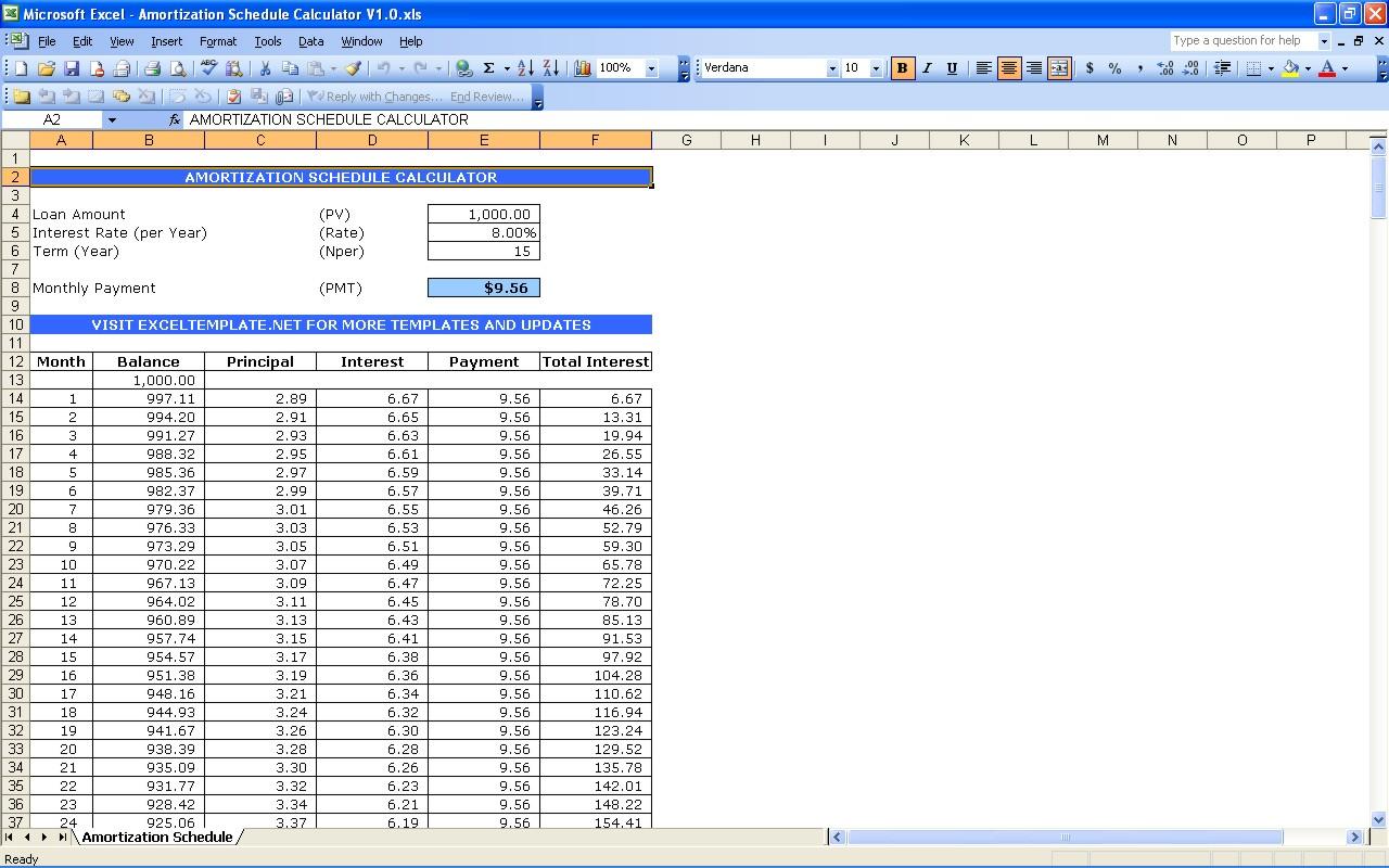 Mortgage Spreadsheet Template Mortgage Spreadsheet