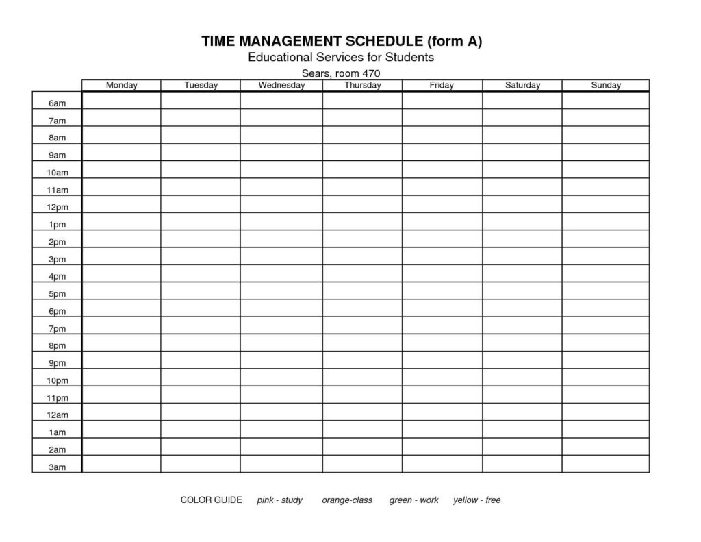Time Management Spreadsheet Template Spreadsheet Templates
