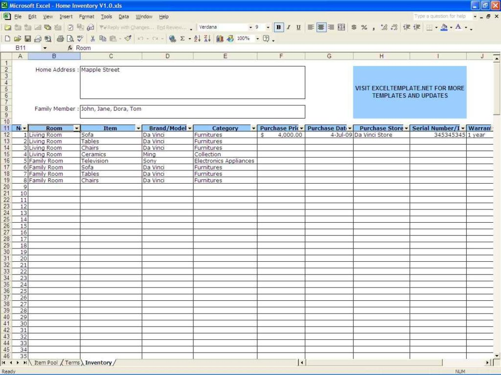 Free Spreadsheet Free Spreadsheet Free Printable Business