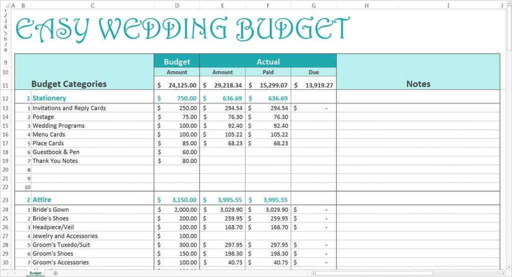 Free Printable Wedding Guest List Spreadsheet Wedding