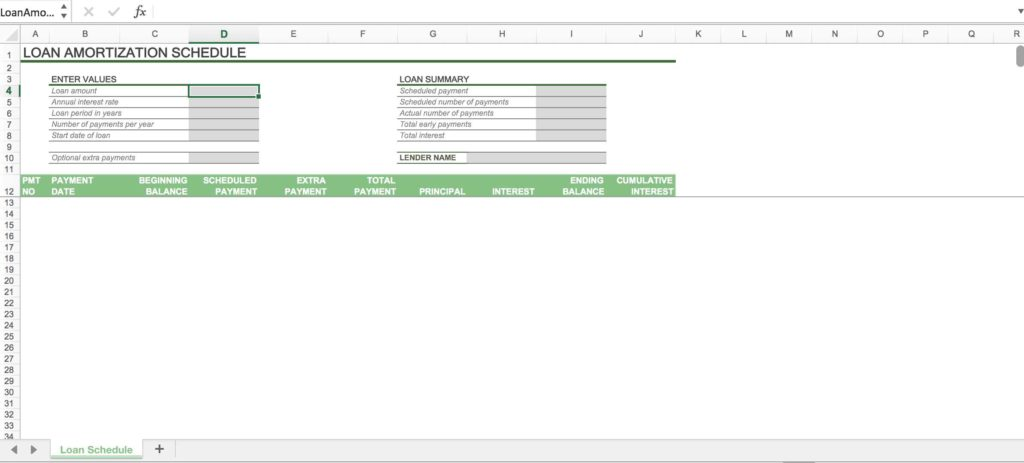 Loan Interest Calculator Spreadsheet