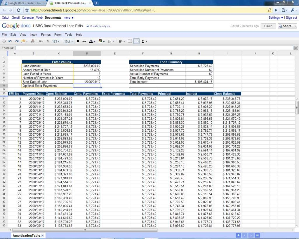 Loan Amortization Schedule With Balloon Payment