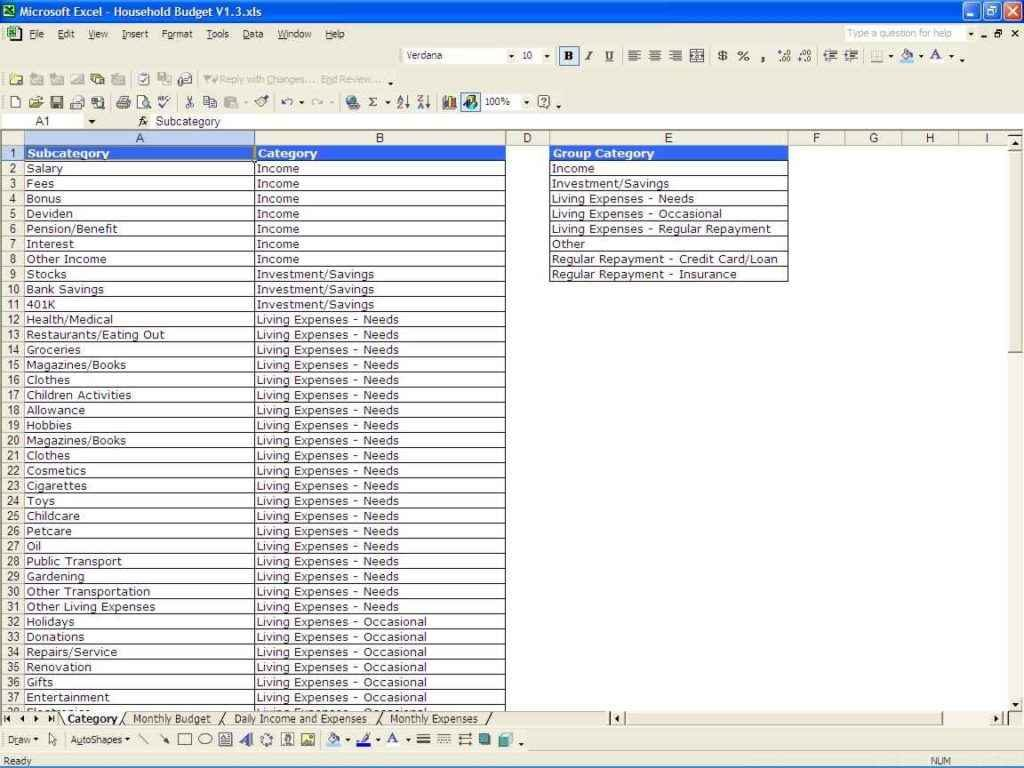 Sample Personal Budget Spreadsheet Budget Spreadsheet Spreadsheet Templates For Busines Personal